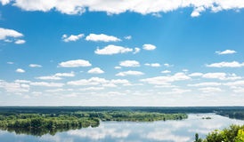 Dnipro river near Kaniv stock images