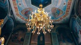 Dnipro Ukraina - Augusti 06, 2017: Kyrka av St Nicholas som är stor Royaltyfria Foton