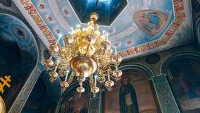 Dnipro Ukraina - Augusti 06, 2017: Kyrka av St Nicholas som är stor Arkivbilder