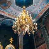 Dnipro Ukraina - Augusti 06, 2017: Kyrka av St Nicholas som är stor Royaltyfri Bild