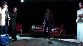 The Trap. DNIPRO, UKRAINE - JULY 7, 2019: Comedy The Trap by  Robert Thomas perfomed by members of the Youth Theater Mirror stock video footage