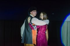 Grand Show Song on Bis. DNIPRO, UKRAINE - JUNE 22, 2018: Grand Show Song on Bis perfomed by members of the Creative Youth Song Theater Royalty Free Stock Photography