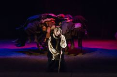 The Epic Drama The Hungry Blood. DNIPRO, UKRAINE - NOVEMBER  25, 2017: The Epic Drama The Hungry Blood performed by members of the Dnipro Youth Theatre Royalty Free Stock Photography