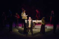 The Epic Drama The Hungry Blood. DNIPRO, UKRAINE - NOVEMBER  25, 2017: The Epic Drama The Hungry Blood performed by members of the Dnipro Youth Theatre Royalty Free Stock Photos