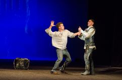 The Comedy of Errors. DNIPRO, UKRAINE - SEPTEMBER 30, 2017: The Comedy of Errors by William Shakespeare performed by members of the Chernihiv Regional Academic Stock Photos