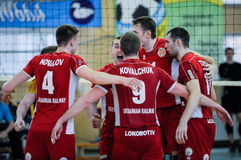 Dnipro vs Lokomotiv. Volleyball game Royalty Free Stock Photography