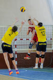 Dnipro vs Lokomotiv. Volleyball game Stock Images