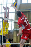 Dnipro vs Lokomotiv. Volleyball game Stock Photography