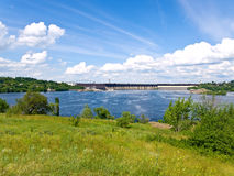 Dnipro water-power plant Stock Image