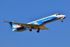 Dniproavia巴西航空工业公司ERJ-145 图库摄影