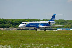 Dniproavia Embraer ERJ-145 Immagini Stock Libere da Diritti