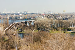 Dnipropetrovsk Bridge Stock Photography