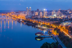 Dnipropetrovsk city at evening Royalty Free Stock Photos