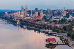 Dnipropetrovsk city at evening. Ukraine royalty free stock photos