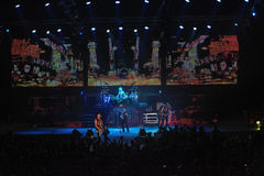 Dnipropetrovsk, Ucrânia - 31 de outubro de 2012: Grupo de rock dos escorpião imagem de stock royalty free