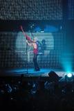 Dnipropetrovsk, Ucraina - 31 ottobre 2012: Banda rock degli scorpioni fotografie stock