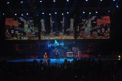 Dnipropetrovsk, Ucraina - 31 ottobre 2012: Banda rock degli scorpioni Immagine Stock Libera da Diritti