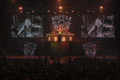 Dnipropetrovsk Ukraina - Oktober 31, 2012: Skorpionrockband royaltyfria foton