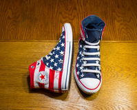 Dnipropetrovsk, Ukraine - June, 13 2016: All Star Converse sneake Royalty Free Stock Images