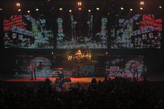 Dnipropetrovsk, Ukraine - 31 octobre 2012 : Groupe de rock de scorpions images stock