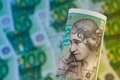 Dänische Kronen. Dänemark-Bargeld Stockfotos