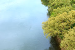 Dnister river and boat Royalty Free Stock Photography
