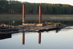 Dnistro river moldova Stock Image