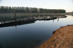 Dnistro river moldavia Royalty Free Stock Photos