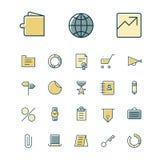 Dünne Linie Ikonen für Geschäft, Finanzierung und Bankwesen Stockbilder