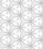 Dünnes Grau brütete kleinen Klee und gewellte Dreiecke aus Stockbild