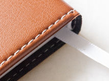 Dno rzemienny dzienniczek z bookmark patką zdjęcie royalty free