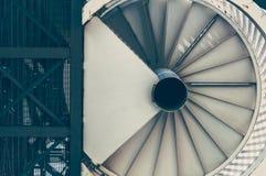 Dno stalowy ślimakowaty schody obrazy royalty free