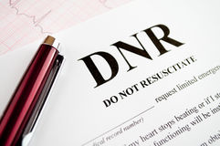 DNR Form Royalty Free Stock Image