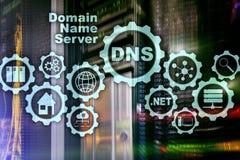 DNS 域名系统 网络网通信 互联网和数字技术概念 向量例证