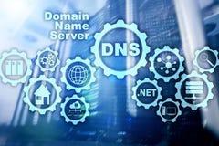 DNS Domain Name System Communication de Web de réseau Internet et concept de technologie numérique photographie stock