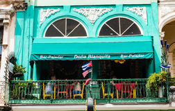 Doña Blanquita餐馆-哈瓦那,古巴 库存照片