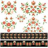 Elegant pattern version. Doğu tarzında çizilmiş ve renklendirilmiş güzel desen tasarımlar Royalty Free Stock Photo