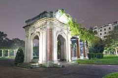 Doña Casilda de Iturrizar park at night. Royalty Free Stock Photo