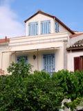 Dołączający dom, Galaxidi nabrzeże, Grecja obrazy stock
