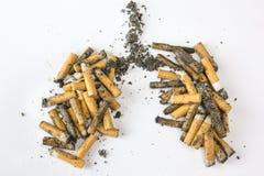 dość papierosów zabija człowieka dymu Obraz Royalty Free