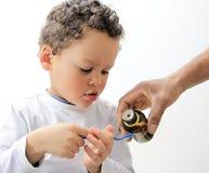 dość wziąć dziecko leków Obrazy Stock