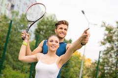 Doświadczonego gracz w tenisa stażowa dama Obrazy Royalty Free