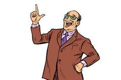 Doświadczony biznesmena szef udany interes ilustracja wektor
