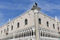 Doża pałac przy St Mark kwadratem w Wenecja, Włochy Obrazy Royalty Free