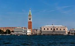 Doża pałac, San Marco dzwonnica, Wenecja, Włochy Obrazy Stock