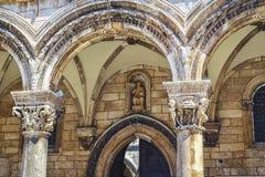 Doża pałac w szczególe fasada obraz royalty free