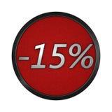 ` Do ícone do disconto - ` de 15% Ilustração gráfica isolada rendição 3d Imagens de Stock Royalty Free