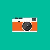 Do ícone retro do estilo do vintage da câmera ilustração lisa do projeto Foto de Stock Royalty Free