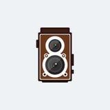 Do ícone retro do estilo do vintage da câmera ilustração lisa do projeto Imagem de Stock