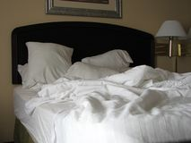 do łóżka unmade Zdjęcie Stock